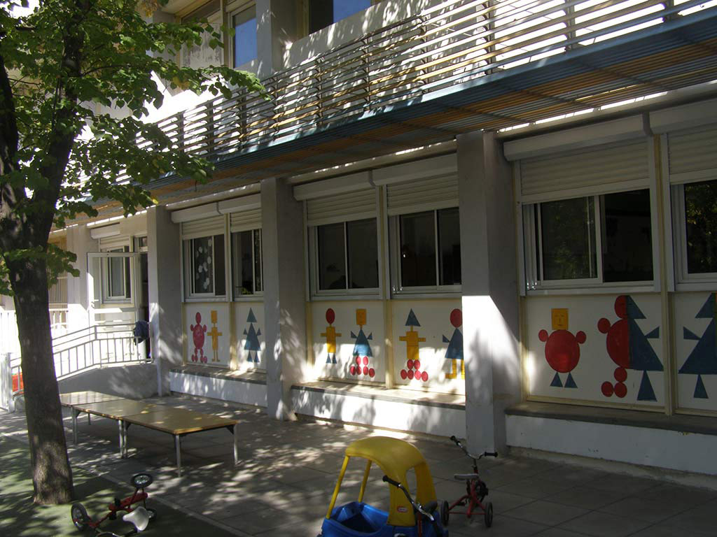 Volets roulants en PVC de l'école maternelle de Pont de Vivaux à Marseille