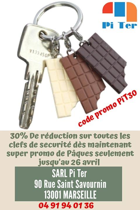 Réduction de 30% sur les clefs de sécurité jusqu'au 26 avril 2019 !